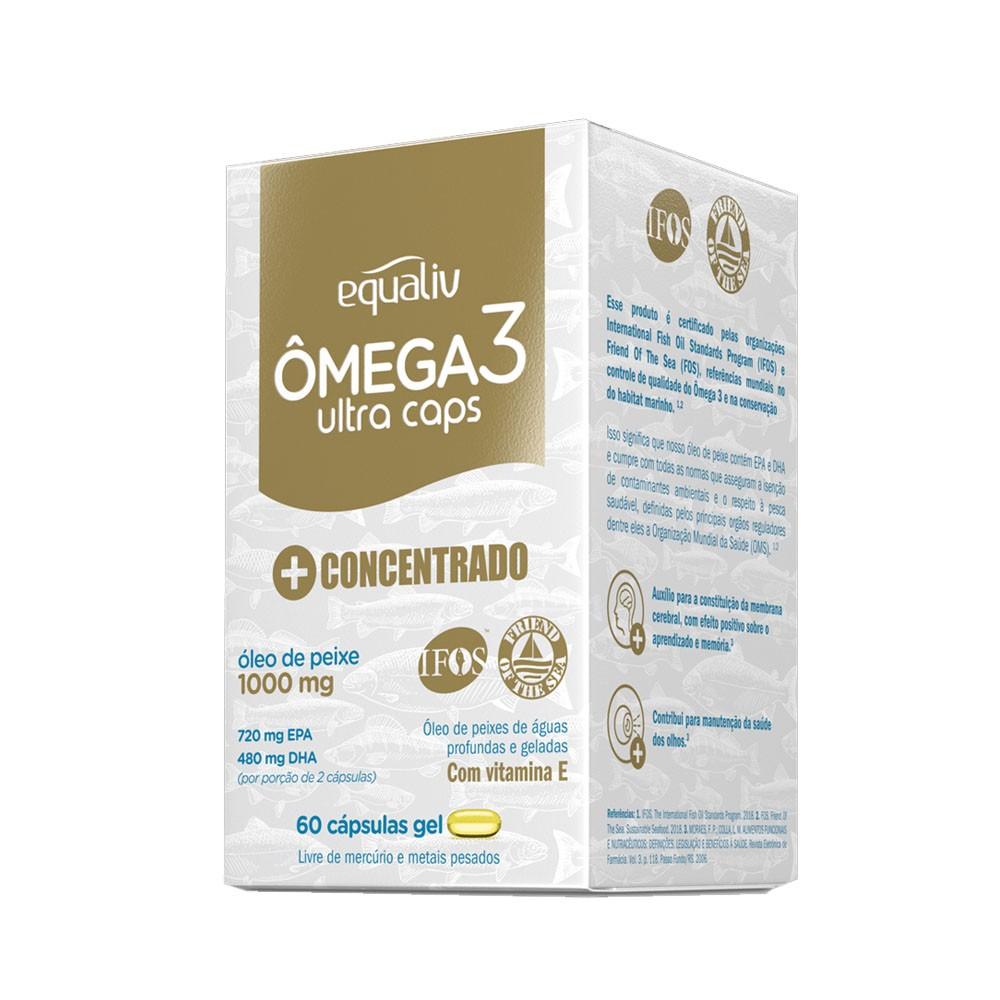 Ômega 3 Ultra Caps 1000mg 60 Cáps Gel - Equaliv  - KFit Nutrition