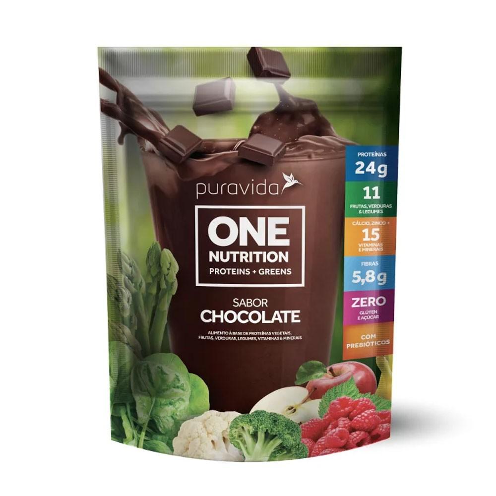 One Nutrition Vegan Proteins+Greens Chocolate 450g - PuraVida  - KFit Nutrition
