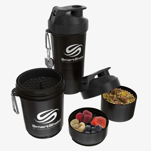 Original 2Go 600Ml - Gunsmoke Black SmartShake  - KFit Nutrition