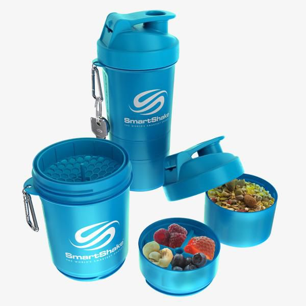 Original 2Go 600Ml - Neon Blue SmartShake  - KFit Nutrition