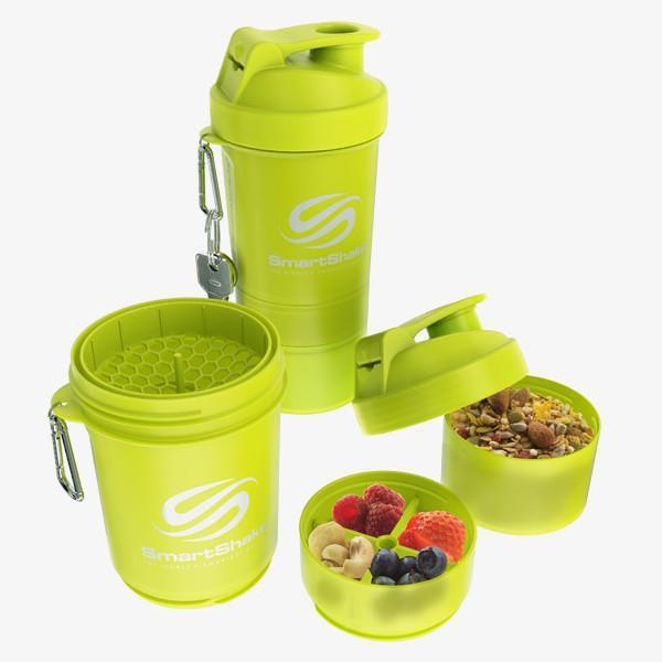 Original 2Go 600Ml - Neon Yellow SmartShake  - KFit Nutrition