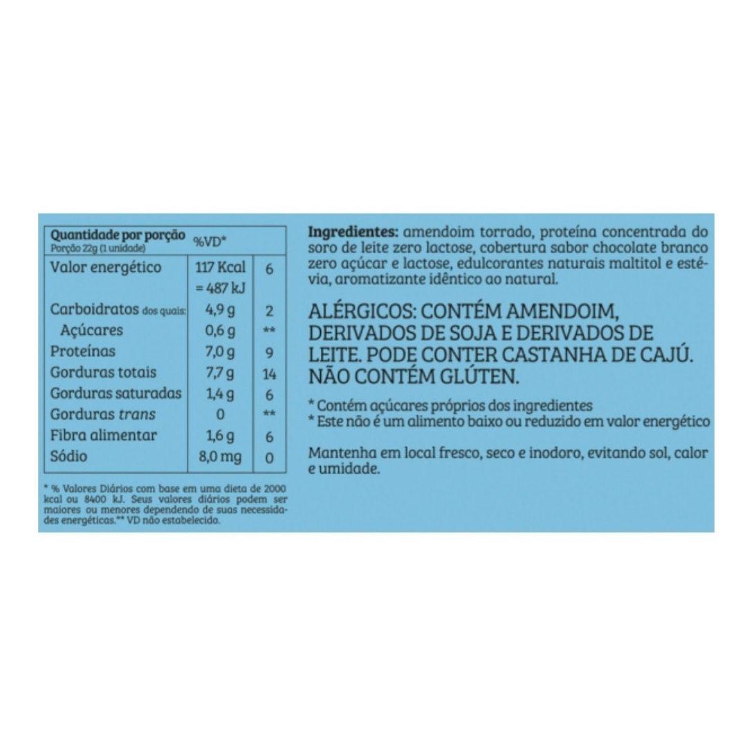 Paçoca Whey Sabor Chocolate Branco 22g Cx 24 Un  Bendú  - KFit Nutrition