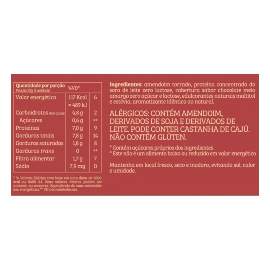 Paçoca Whey Sabor Toffer com Chocolate 22g Cx 24 Un  Bendú  - KFit Nutrition