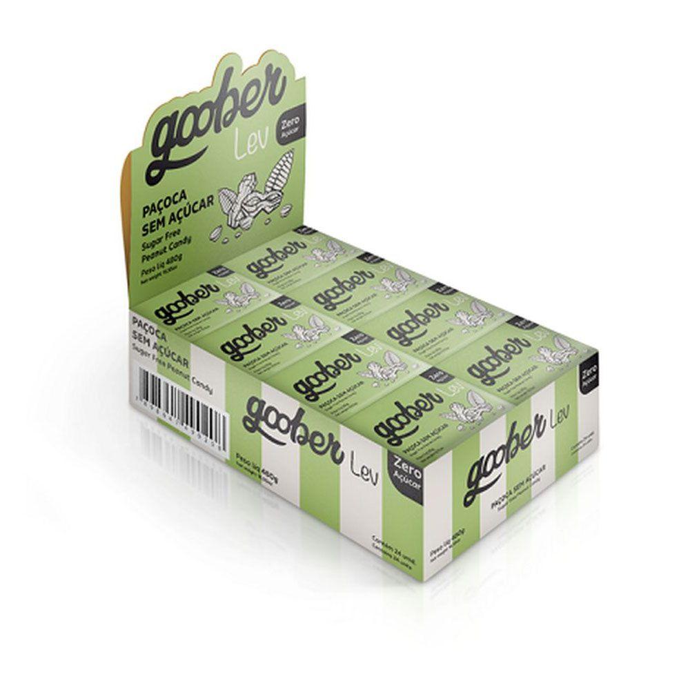 Paçoca Zero Açucar 20g - Goober - 24un Display  - KFit Nutrition