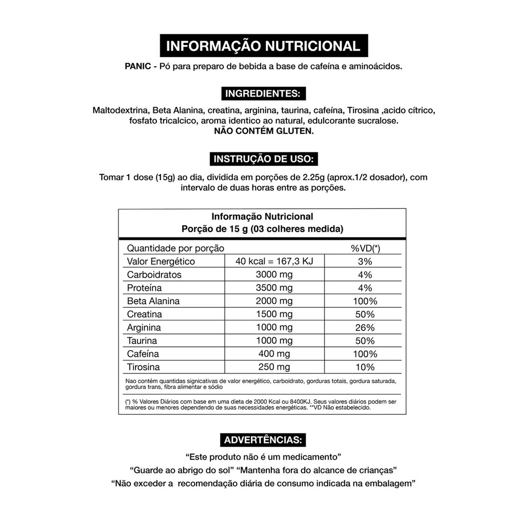 Panic Pre-Workout 450g Maçã Verde - Adaptogen  - KFit Nutrition