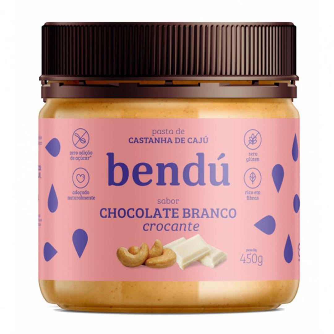 Pasta Castanha de Caju Chocolate Branco Crocante 450g  Bendú  - KFit Nutrition