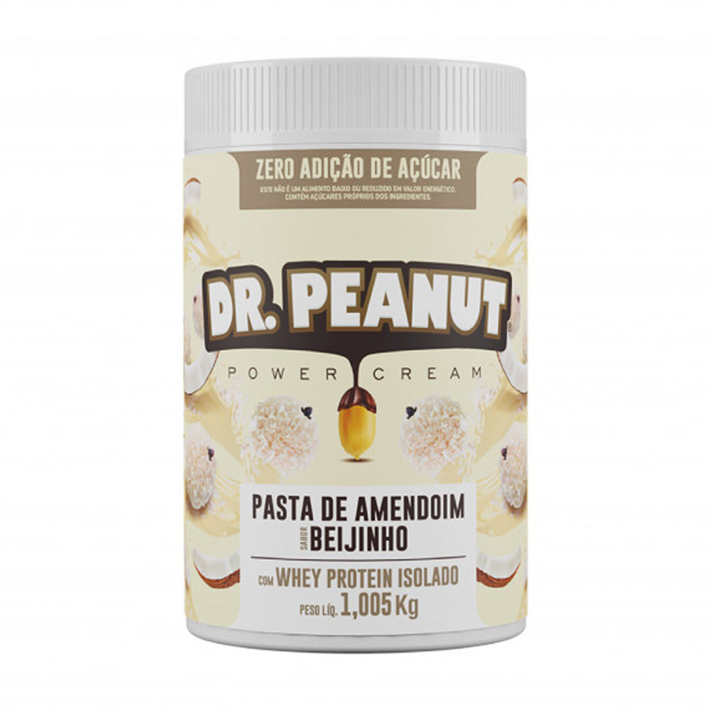 Pasta de Amendoim c/ Whey Isolado Beijinho 1kg - Dr Peanut  - KFit Nutrition