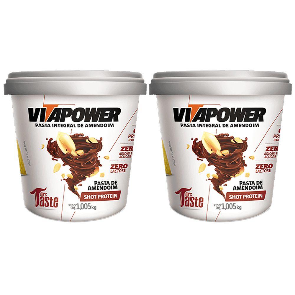 Combo 2 Un Pasta de Amendoim 1kg Shot Vitapower  - KFit Nutrition