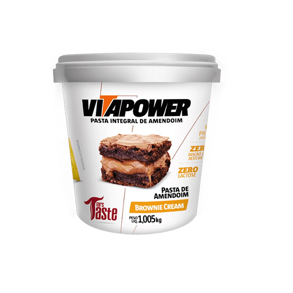 Pasta de Amendoim 1kg Brownie Cream Vita Power  - KFit Nutrition