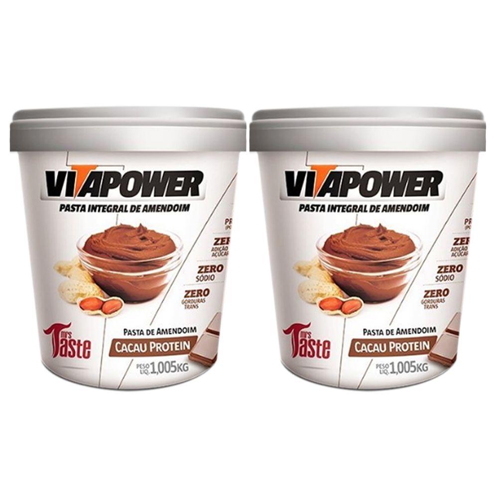 Pasta de Amendoim 1Kg Cacau 2 Un Vitapower  - KFit Nutrition