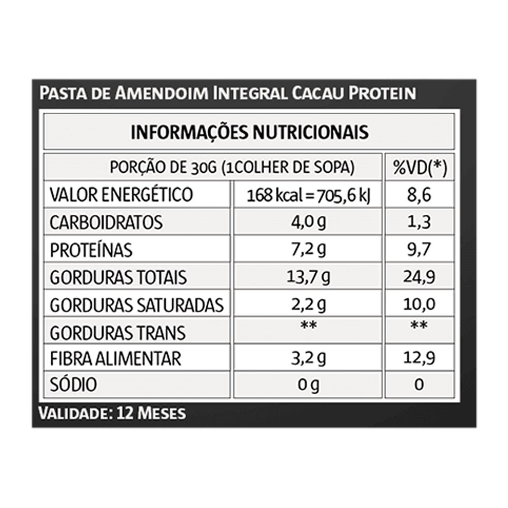 Pasta de Amendoim 1kg Cacau Vita Power  - KFit Nutrition