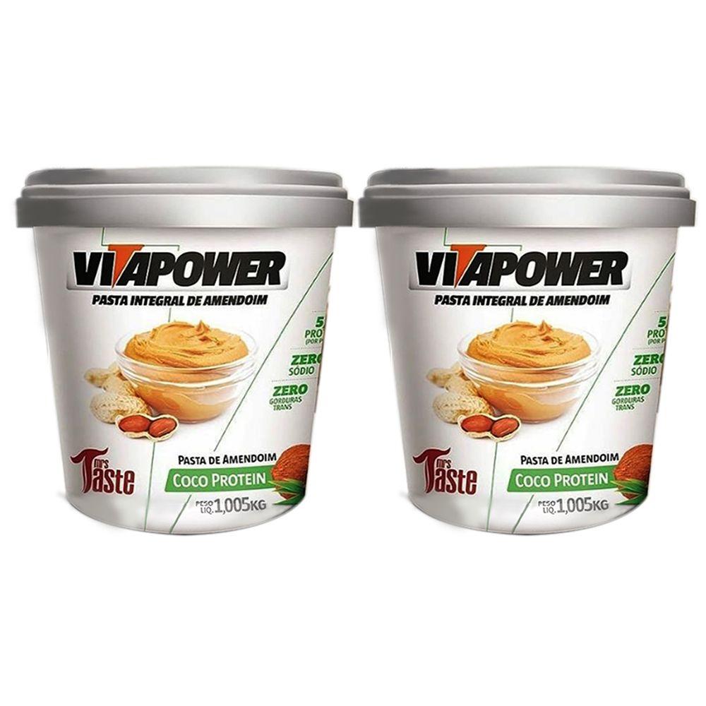 Pasta de Amendoim 1Kg Coco 2 Un Vitapower  - KFit Nutrition