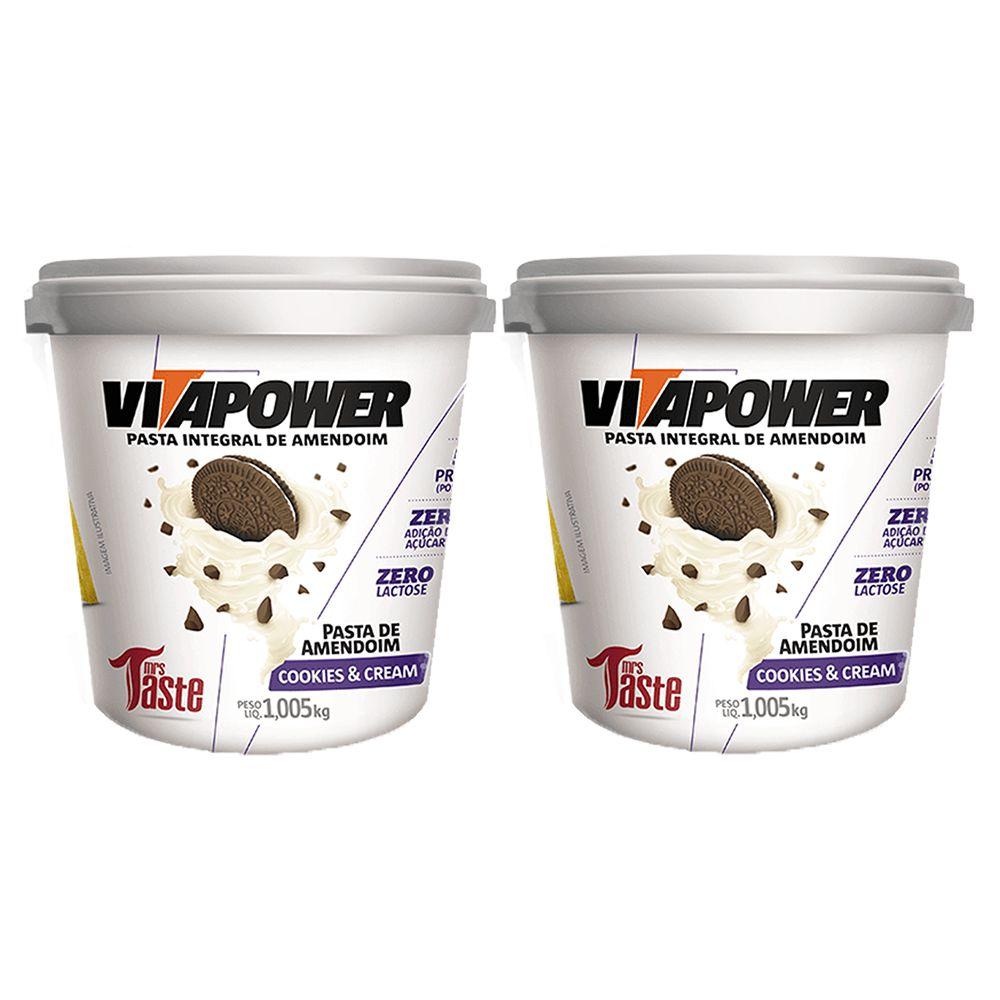 Pasta de Amendoim 1kg Cookies Vita Power 2 Un  - KFit Nutrition