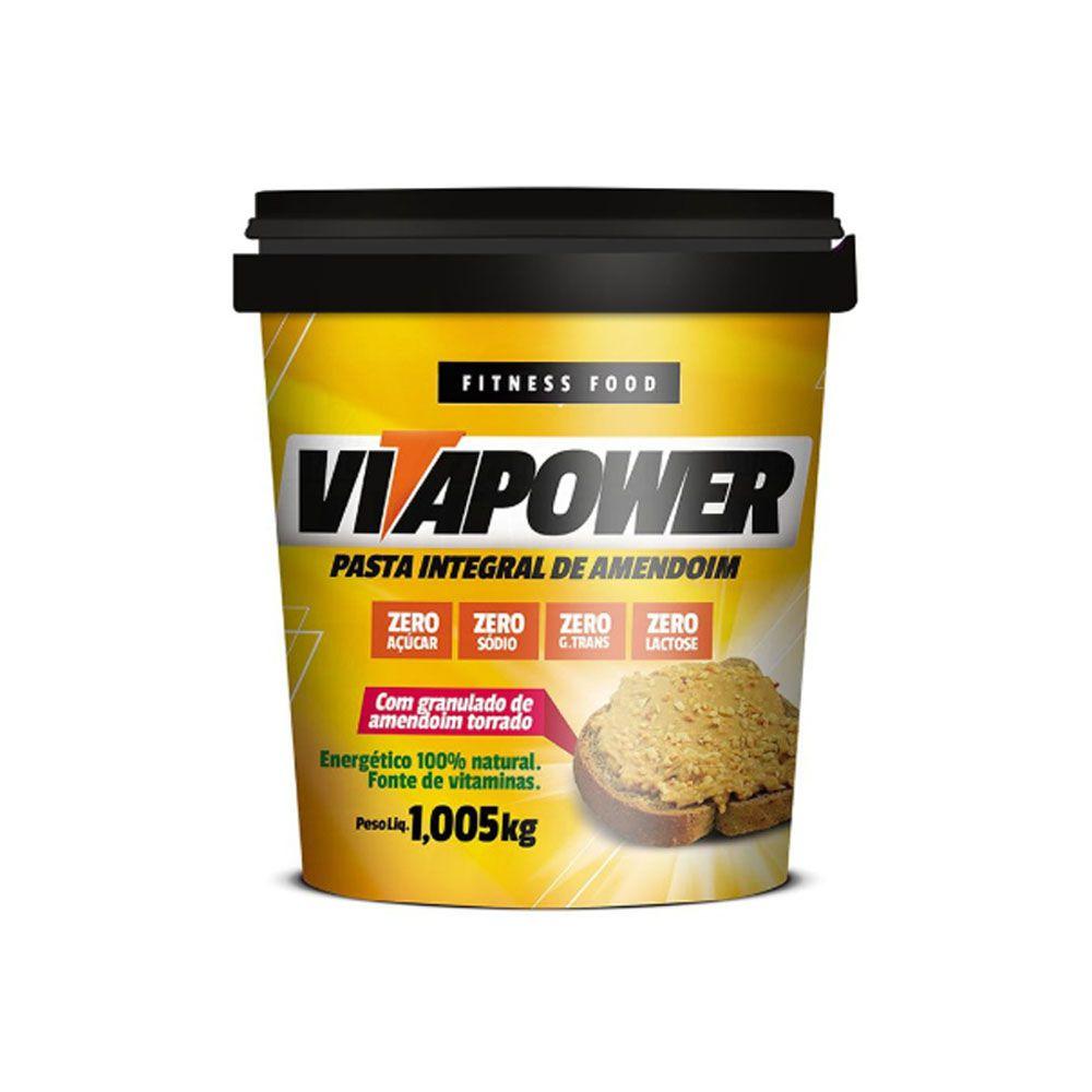 Pasta de Amendoim 1kg Crocante Vita Power  - KFit Nutrition