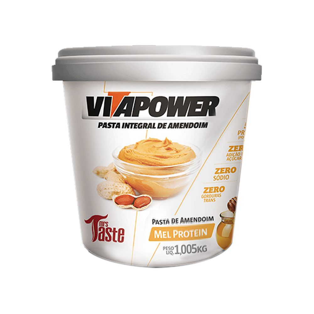 Pasta de Amendoim 1kg Honey Vita Power  - KFit Nutrition