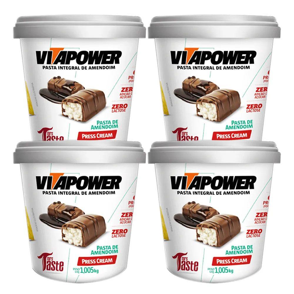 Pasta de Amendoim 1kg Press Cream Vita Power 4 Un  - KFit Nutrition