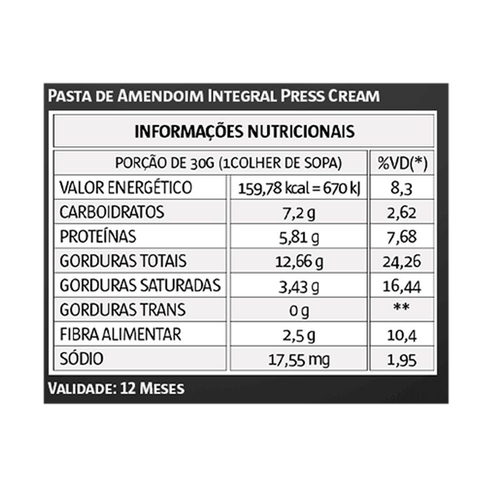 Pasta de Amendoim 1Kg Press Cream Vitapower 3 Unidades  - KFit Nutrition