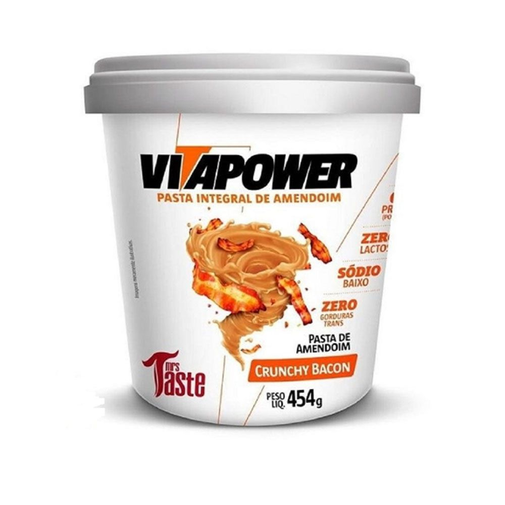 Pasta de Amendoim 454kg Crunchy Bacon Vita Power  - KFit Nutrition