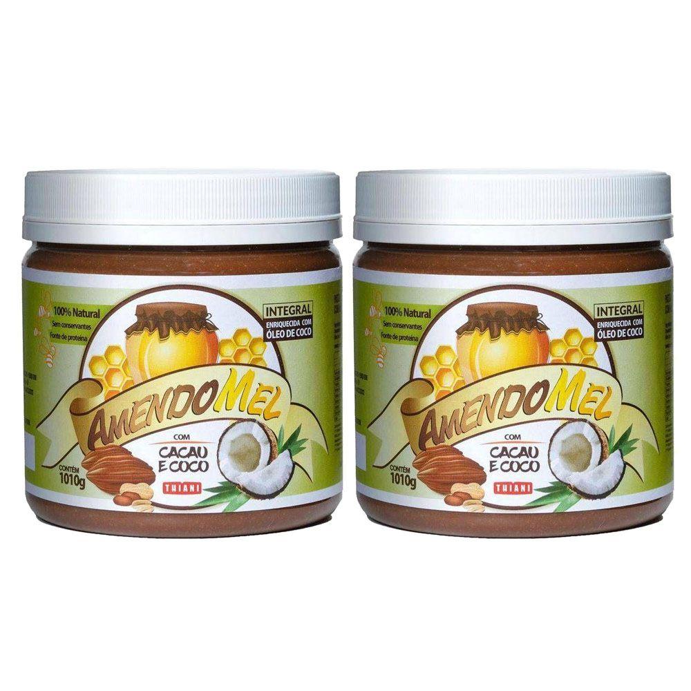 Pasta de Amendoim Amendomel Cacau e Coco 1 Kg 2 un  - KFit Nutrition