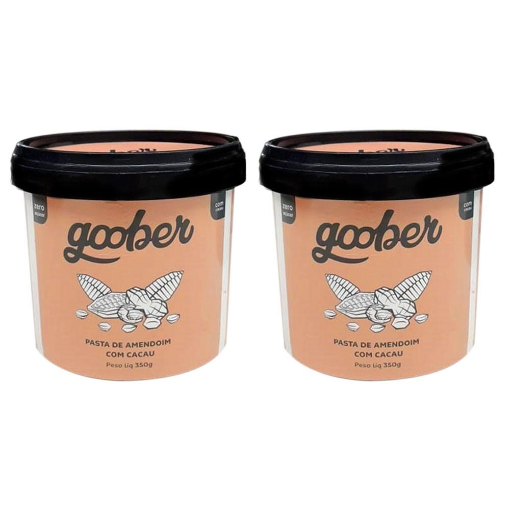 Pasta de Amendoim Com Cacau 350g 2 Un Goober  - KFit Nutrition
