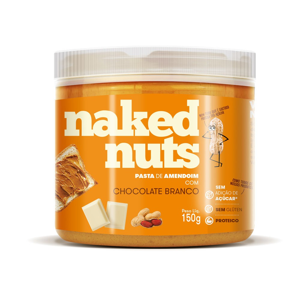 Pasta de Amendoim com Chocolate Branco 150g - Naked Nuts  - KFit Nutrition