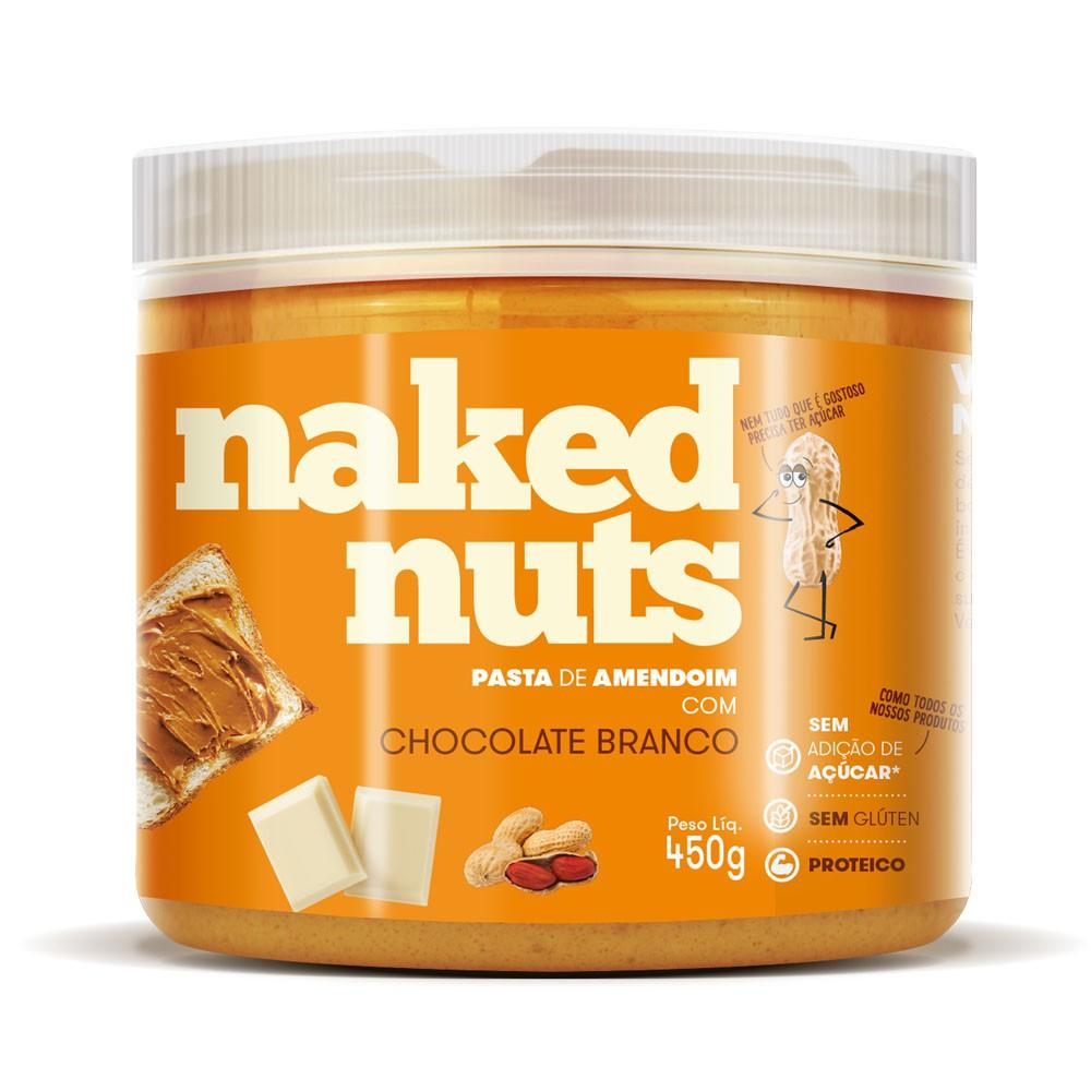 Pasta de Amendoim com Chocolate Branco 450g - Naked Nuts  - KFit Nutrition