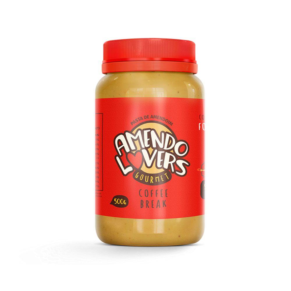 Pasta de Amendoim Gourmet Coffee Break 500g - Amendo Lovers  - KFit Nutrition