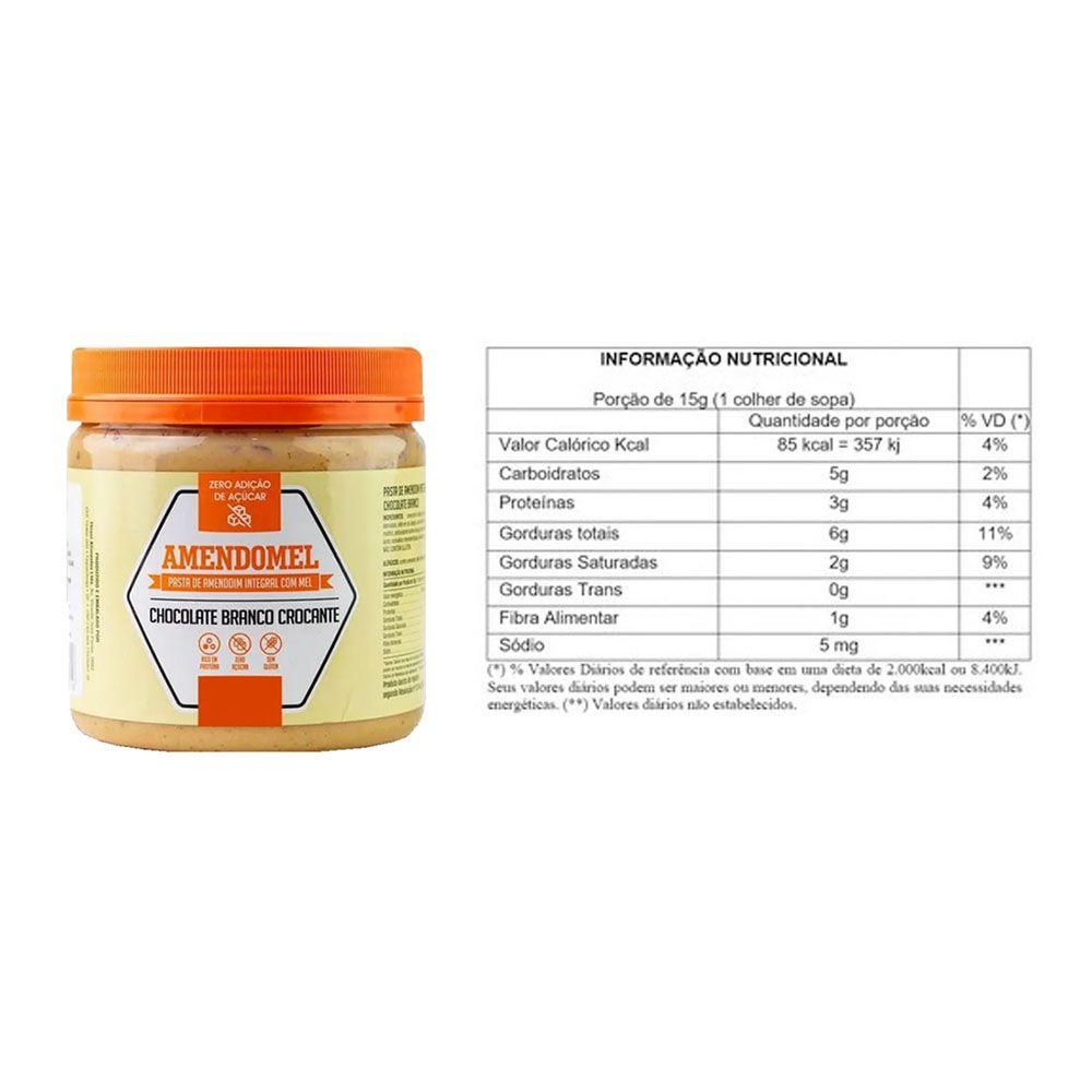 Pasta de Amendoim Integral 1Kg Choc Branco Crocante 4 Un  - KFit Nutrition