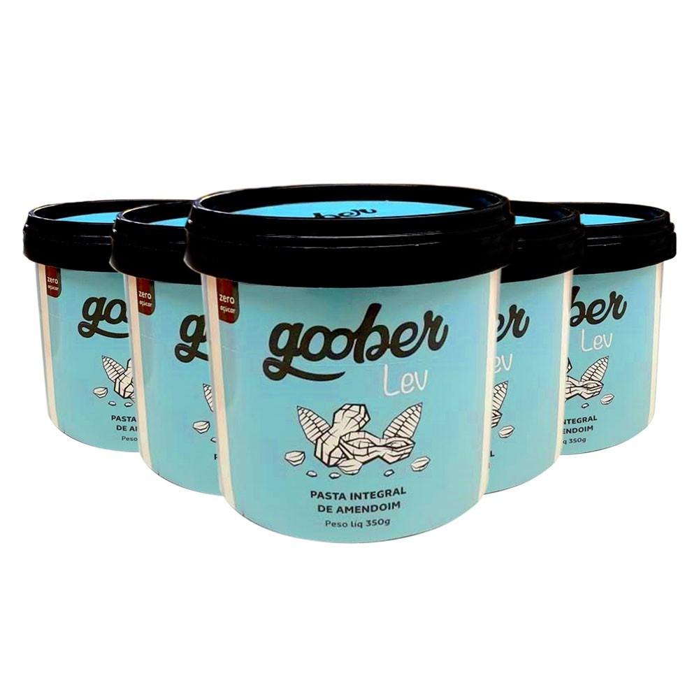 Pasta de Amendoim Integral 350g Goober - 5 Un  - KFit Nutrition