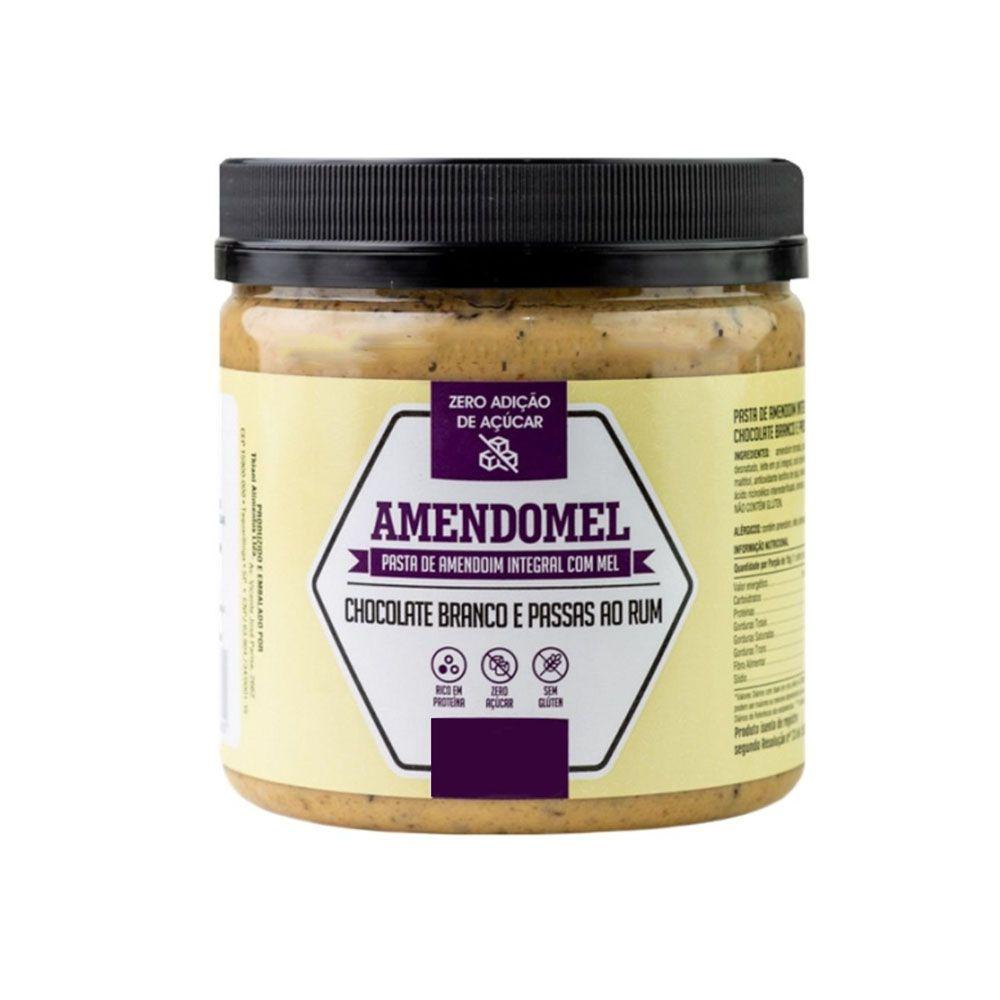 Pasta de Amendoim Integral C/ Mel Choc Branco e Passas ao Rum 500g  - KFit Nutrition