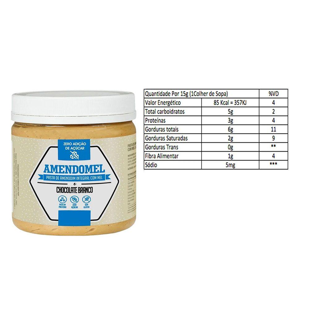 Pasta de Amendoim Integral Com Chocolate Branco 1Kg 3 Un  - KFit Nutrition