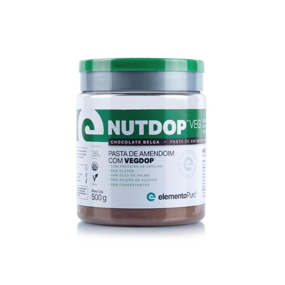 Pasta de Amendoim NutDop Veg Chocolate Belga 500g -ElementoPuro  - KFit Nutrition