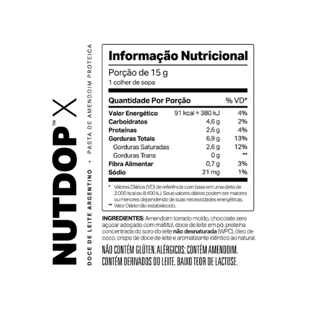Pasta de Amendoim NutDop X Doce de Leite 500g - ElementoPuro  - KFit Nutrition