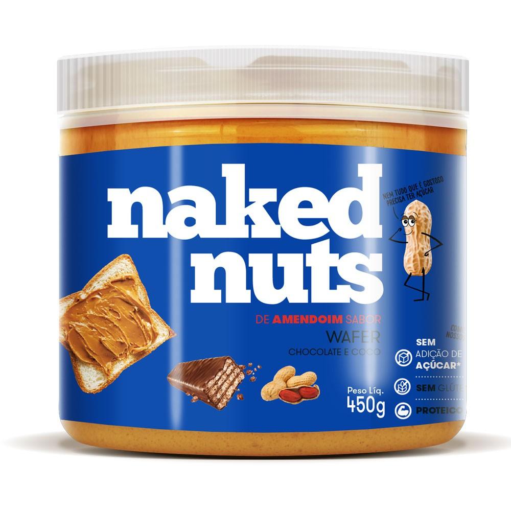 Pasta de Amendoim Sabor Wafer choc e Coco 450g - Naked Nuts  - KFit Nutrition