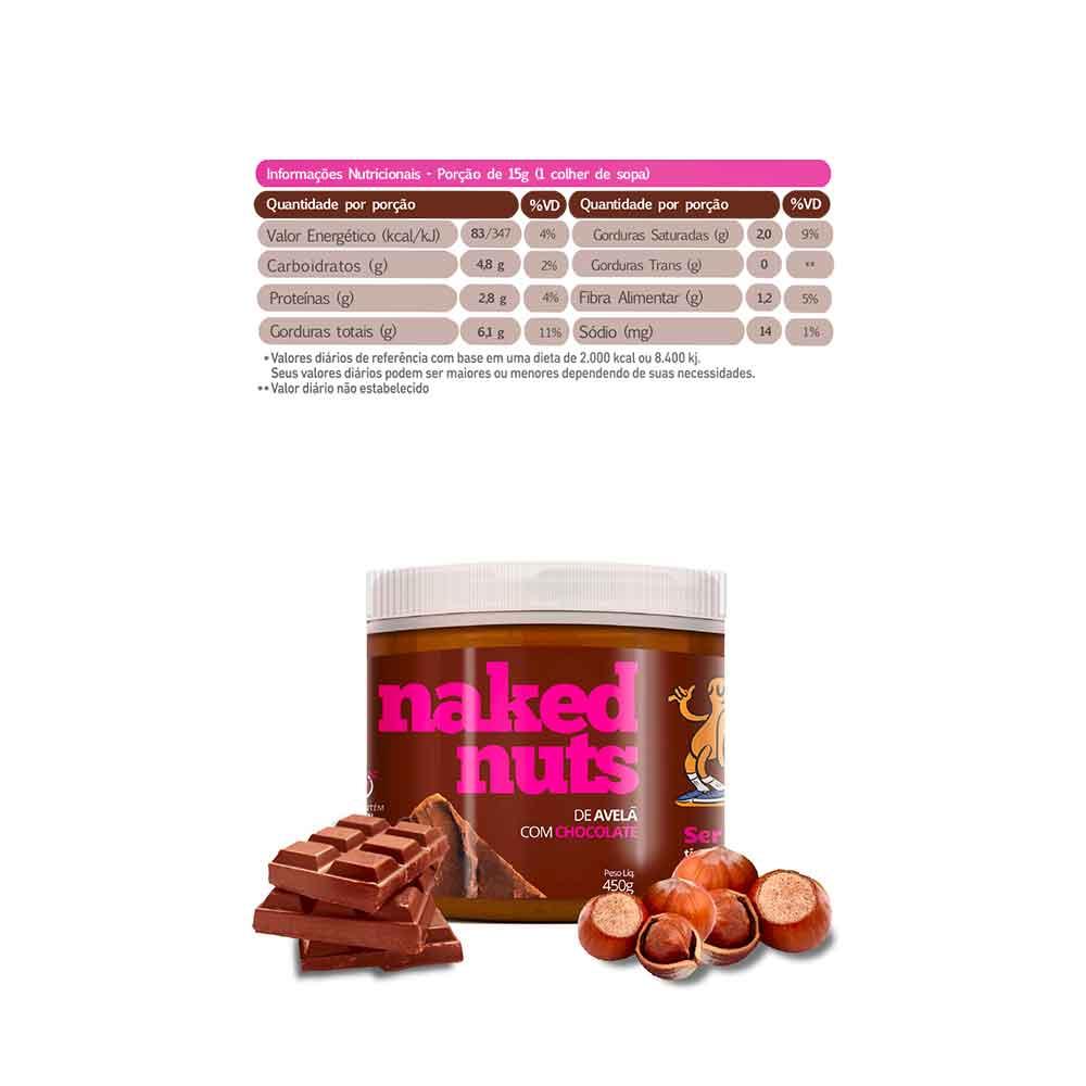 Pasta de Avela com Chocolate 450g - Naked Nuts  - KFit Nutrition