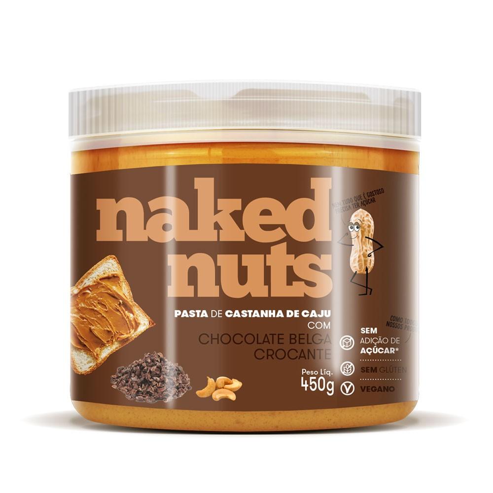 Pasta de Castanha de Caju com Choc Belga Crocante 450g - Naked Nuts  - KFit Nutrition