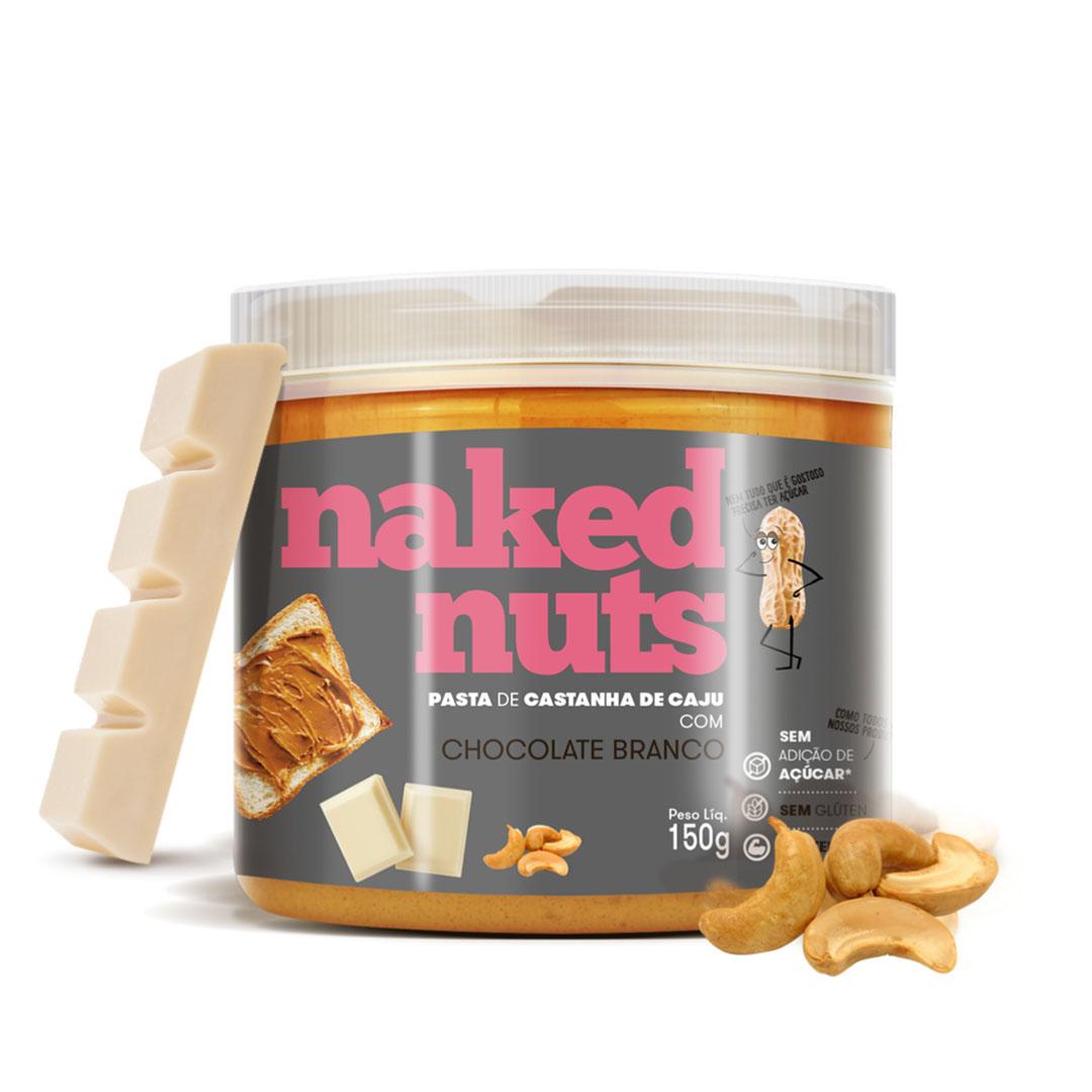 Pasta de Castanha de Caju com Choc Branco 150g - Naked Nuts  - KFit Nutrition