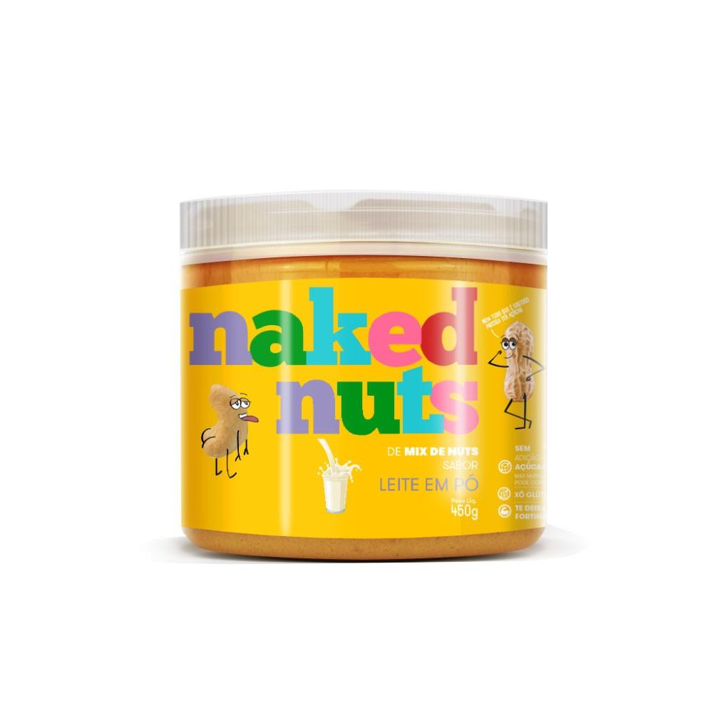Pasta de Mix de Nuts Sabor Leite em Pó 450g - Naked Nuts  - KFit Nutrition