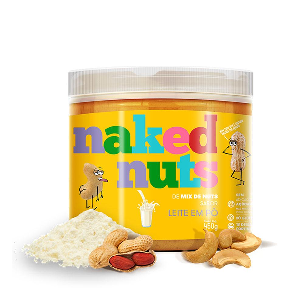 Pasta de Mix de Nuts Sabor Leite em Pó 450g  Naked Nuts  - KFit Nutrition
