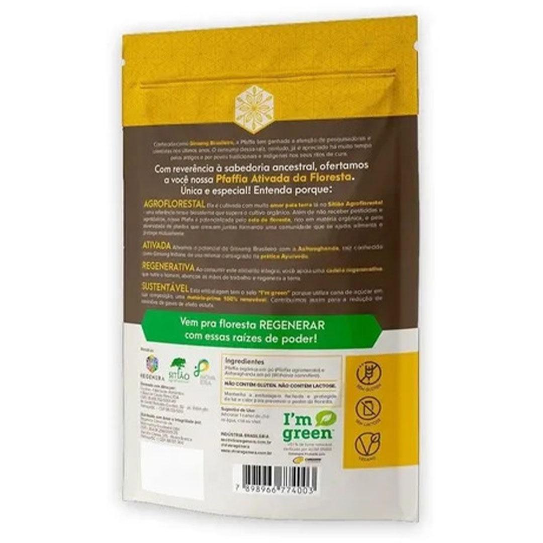 Pfaffia Ativada da Floresta C/ Ashwagandha 60g  Viva Regenera  - KFit Nutrition