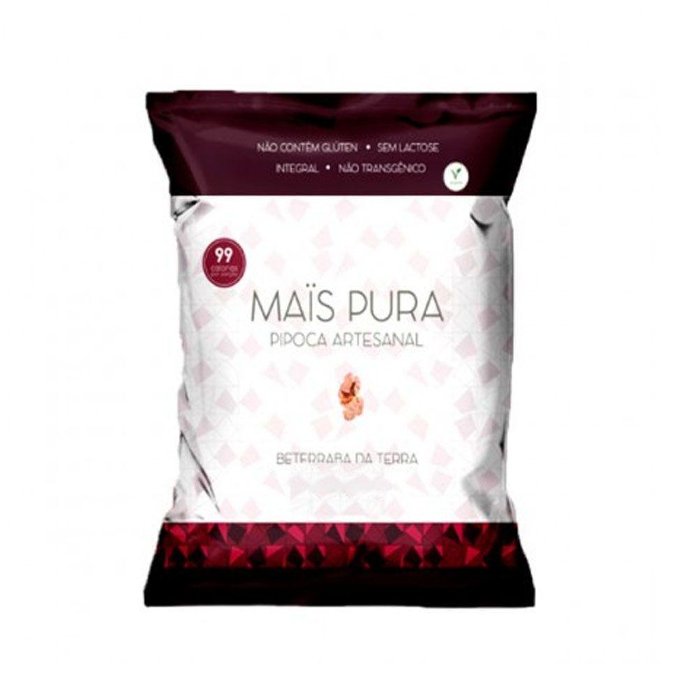 Pipoca Artesanal 150g Beterraba da Terra - Mais Pura  - KFit Nutrition