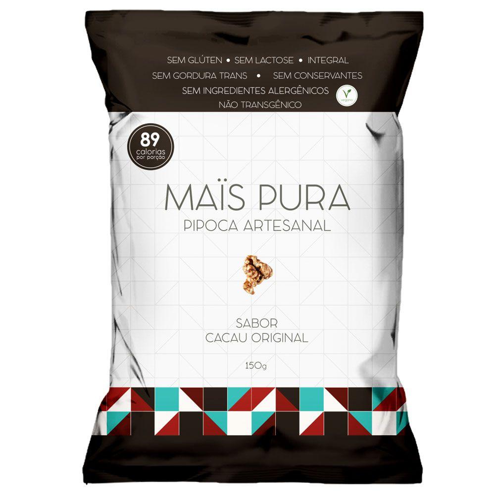 Pipoca Artesanal 150g Cacau Original - Mais Pura  - KFit Nutrition