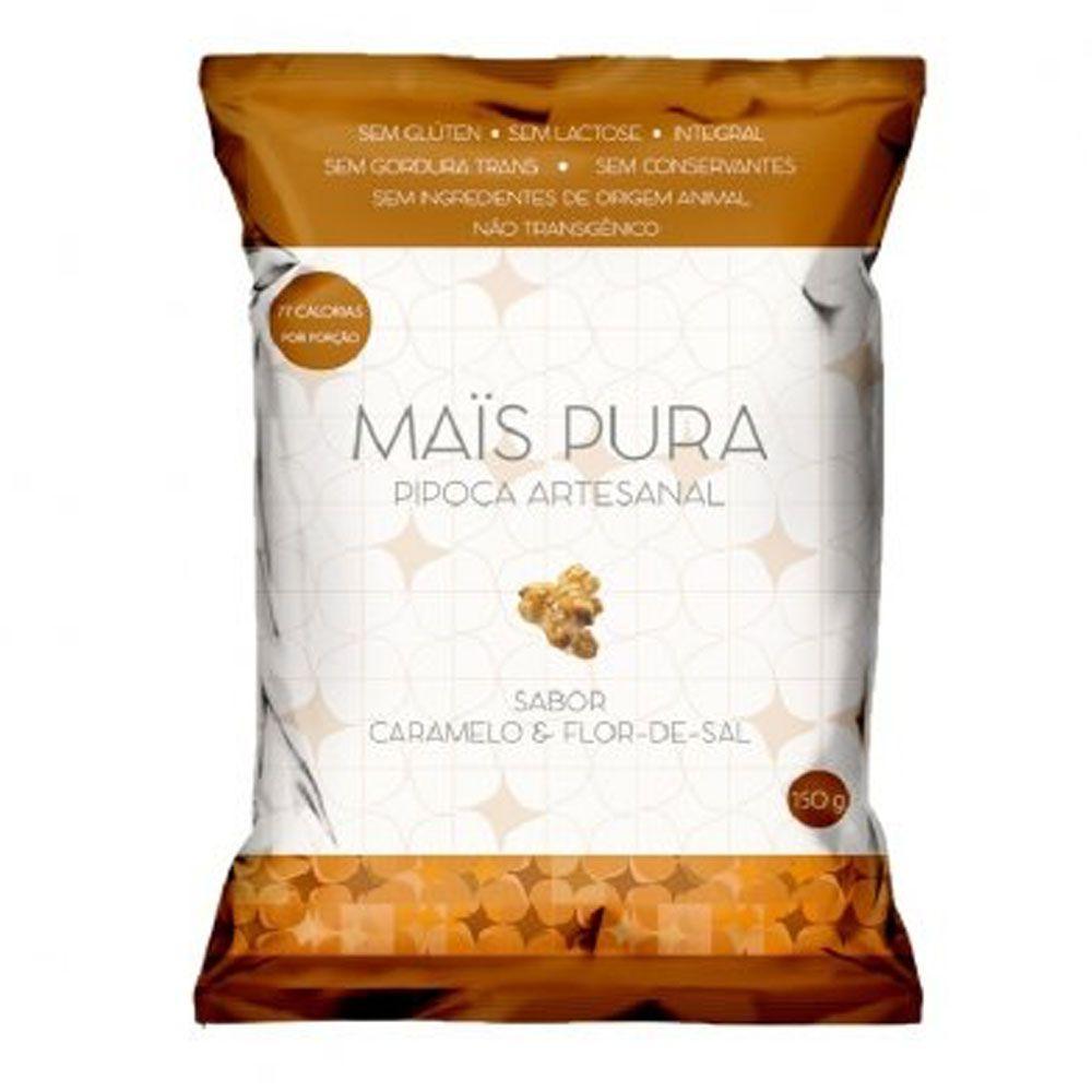 Pipoca Artesanal 150g Caramelo e Flor de Sal - Mais Pura  - KFit Nutrition