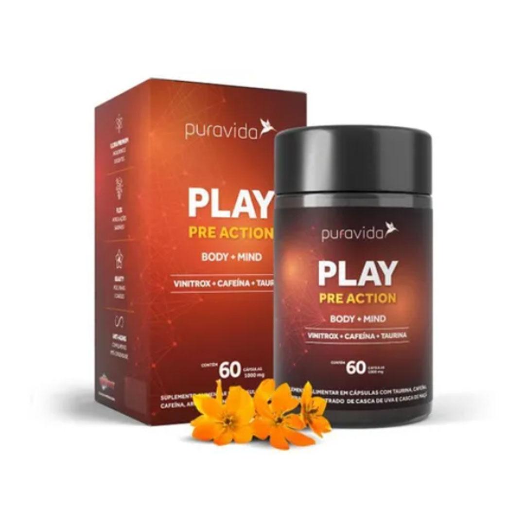 Play Pre Action Body + Mind 60 Caps Puravida  - KFit Nutrition