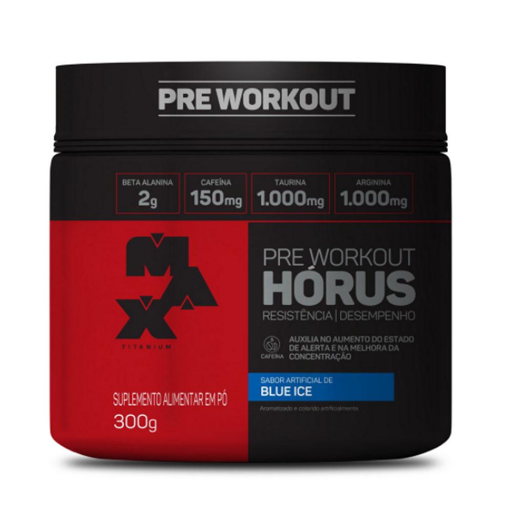 Pre Workout Hórus 300g Blue Ice - Max Titanium  - KFit Nutrition