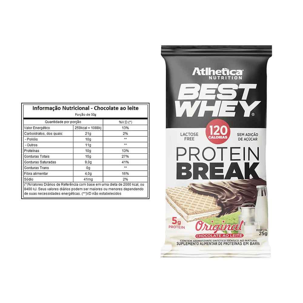Protein Break 25g Original Chocolate Ao Leite - Atlhetica  - KFit Nutrition