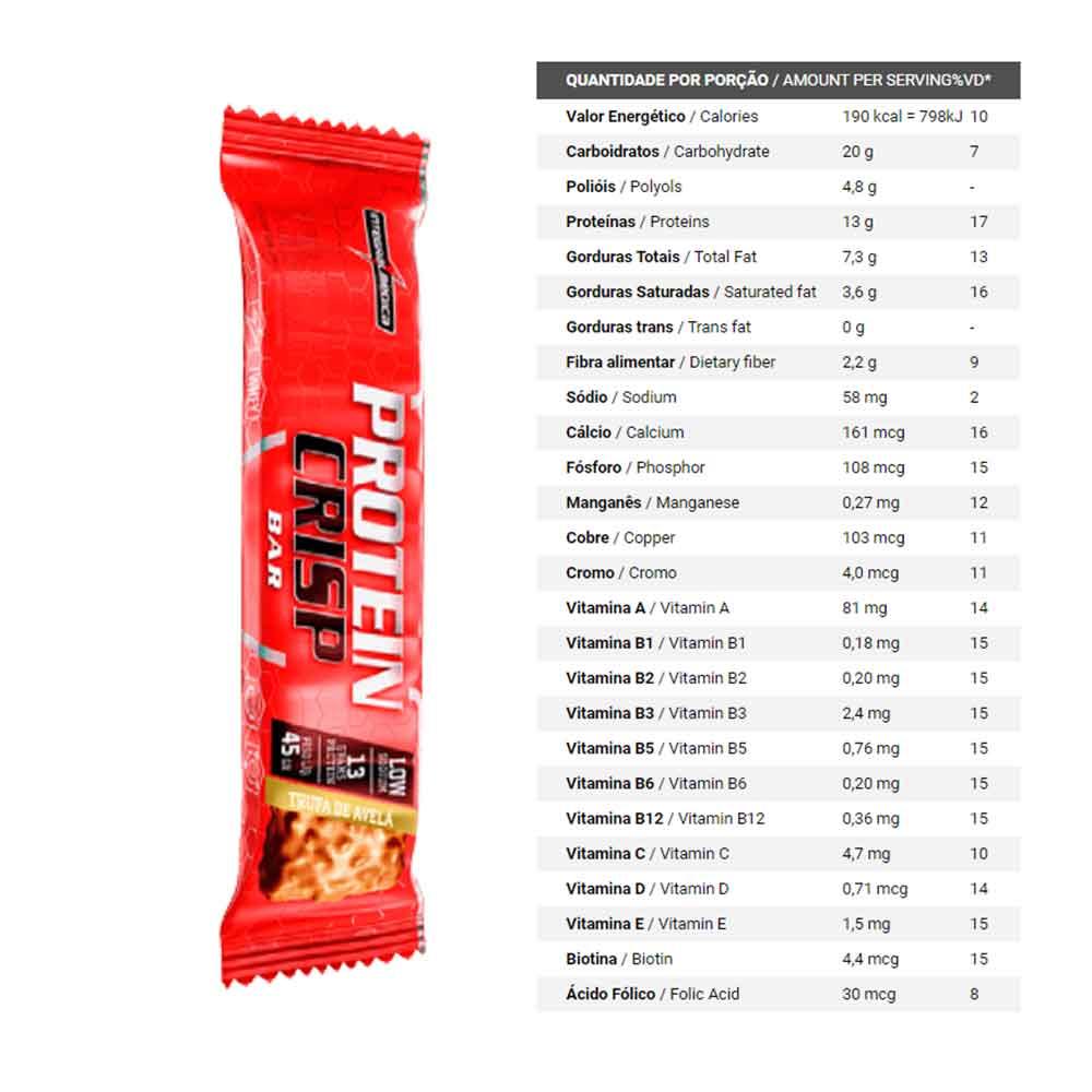 Protein Crisp 13g Integral Medica Trufa de Avelã  - KFit Nutrition