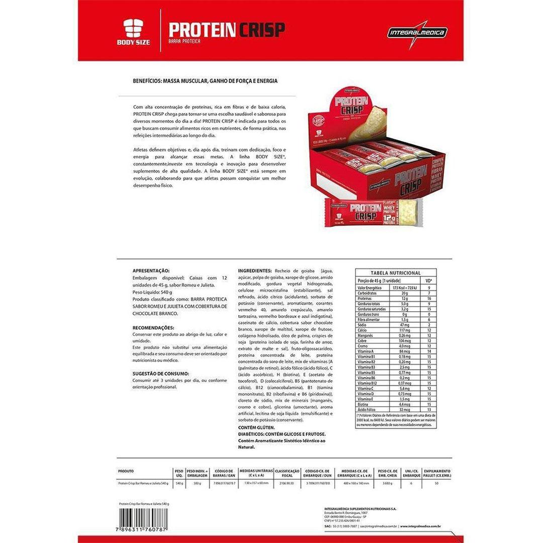 Protein Crisp 14g Churros com Doce de Leite Cx 12 Un  - KFit Nutrition