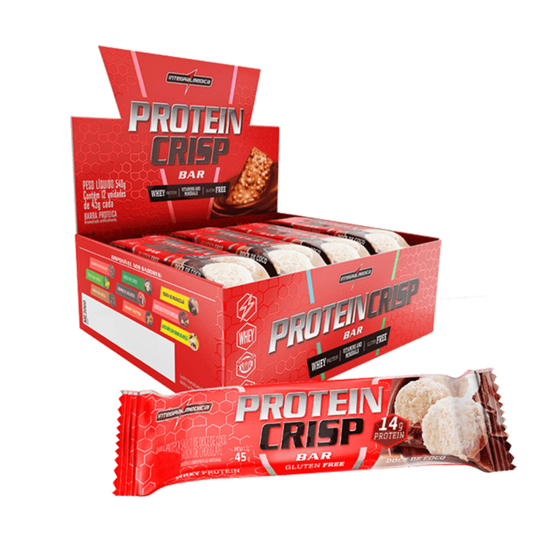 Protein Crisp 14g Doce de Coco Integral Medica Cx 12 Un  - KFit Nutrition