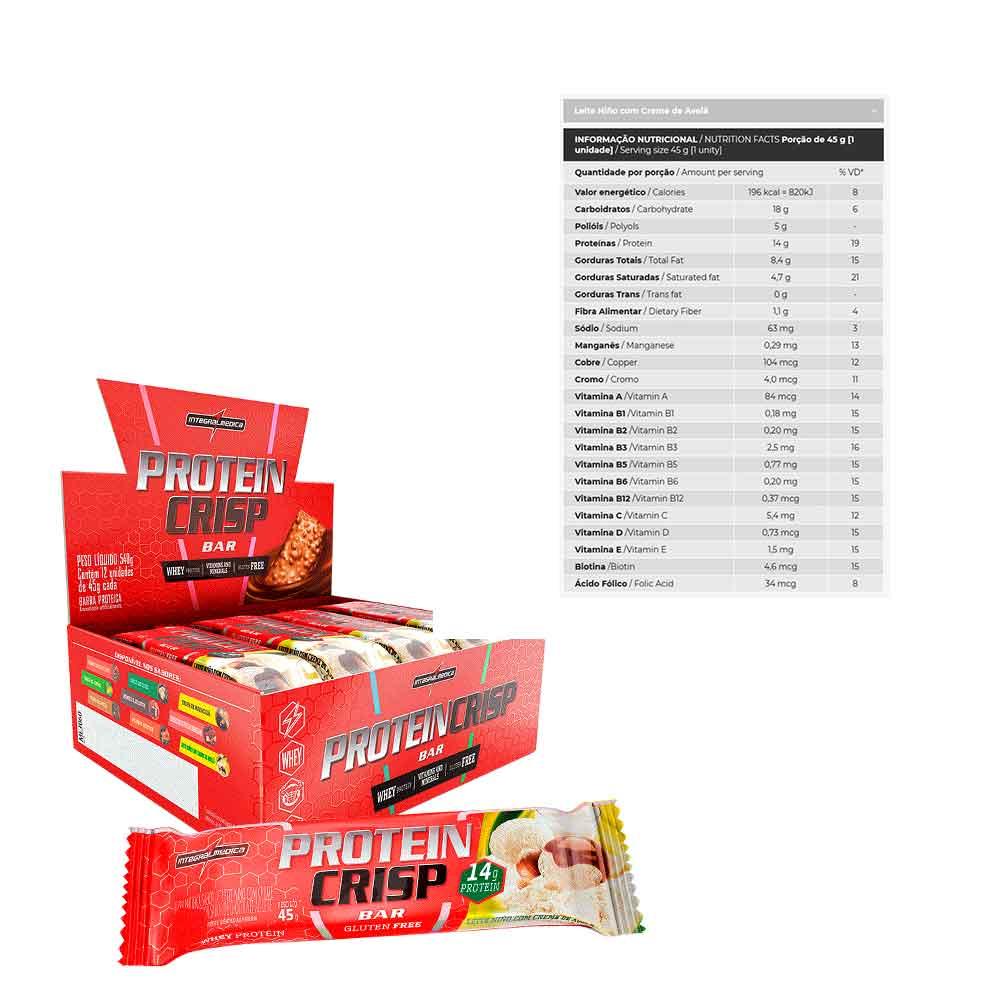 Protein Crisp Bar Leite Ninho Cx 12un - Integral Medica  - KFit Nutrition